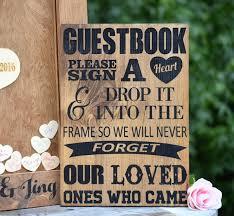 wedding sign in book ideas guest book sign wedding guest book alternative heart drop