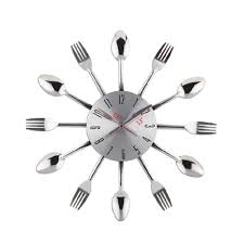 Compare Prices On Wall Watch For Kitchen Home Decor Online by Compare Prices On Silver Cutlery Clock Online Shopping Buy Low