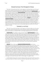 summary essay sample summary essay example 8 summary writing example buyer resume