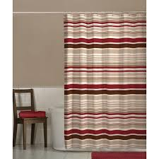 Chocolate Brown And Red Curtains Amazon Com Maytex Meridian Shower Curtain Home U0026 Kitchen