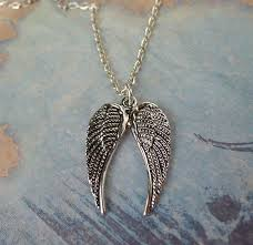 angel wings necklace images Double angel wings necklace everyday silver angel wing jewelry jpg