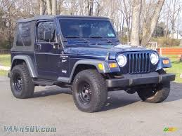 pearl jeep wrangler 2000 jeep wrangler sport 4x4 in patriot blue pearl 749487