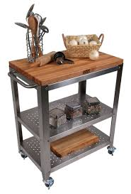 stainless steel kitchen island with butcher block top inspirations