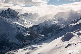 the resort of méribel in winter located in the of the 3 valleys