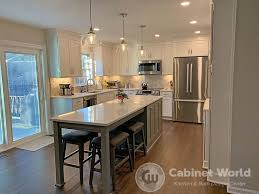 kitchen remodel with white cabinets mohney projects cabinet world of pa