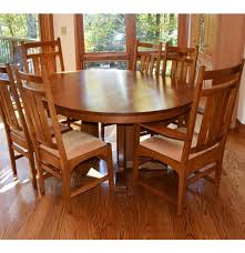 Stickley Dining Room Furniture For Sale stickley mission collection harvey ellis table and six chairs ebth