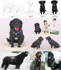 cake topper with dog newfoundland dog cake toppers dog wedding cake topper