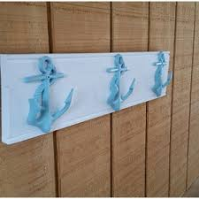 5 boat cleat towel clothes rack for nautical bathroom or nursery