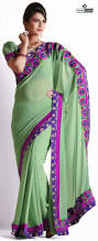 pista green color faux georgette pista green color designer sarees