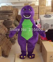 Dinosaur Halloween Costume Aliexpress Buy Purple Barney Dinosaur Cartoon Mascot