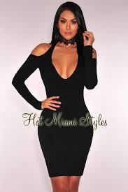 halter dress ribbed knit shoulder halter dress