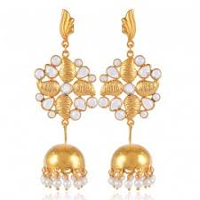 new jhumka earrings jhumka online buy silver fashioned out golden chandelier earring