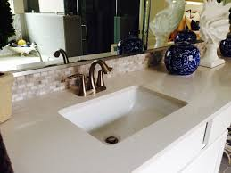 Bathroom Vanity Bowl by Master Bath Vanity Silestone Counter With Decorative Mosaic Tile