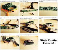 make paracord bracelet knot images Ninja turtle tutorial with paracord JPG