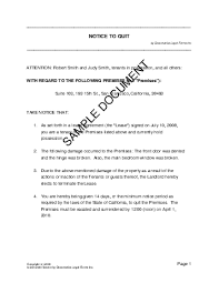 Breach Of Employment Contract Letter Sle notice to quit usa templates agreements contracts and