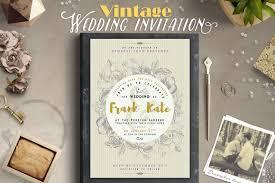 vintage wedding invitation i invitation templates creative market