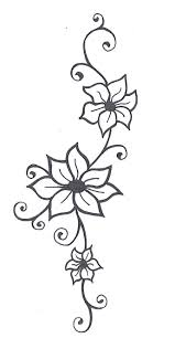 easy drawings of flowers and vines images of flower drawings