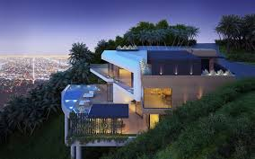 hillside home designs cantilever hillside home interior design ideas