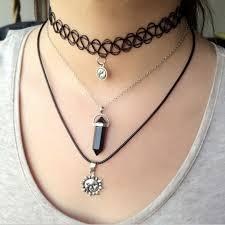 vintage style necklace images Women lady layer choker 3pcs set vintage style punk gothic style jpg