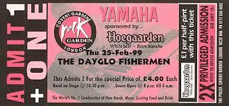 The Rock Garden Covent Garden Dayglo Fishermen Gallery Rock Garden Concert 1999 Free