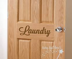 laundry door decal vinyl letters laundry room lettering zoom