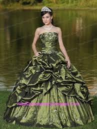 green quinceanera dresses olive green quinceanera dress strapless ruffles beaded decorate