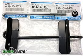 mazda made in 1990 1997 mazda miata battery bracket hold down clamp rod bolt