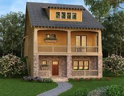 narrow lot house plans with basement 54 best craftsman house plans images on square
