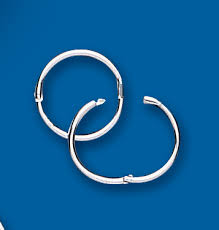 high quality 925 silver 12mm plain hinged sleeper earrings