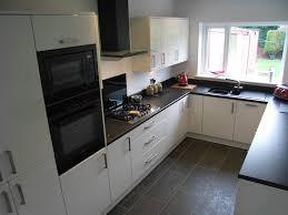 Small Kitchen Black Cabinets Small Black And White Kitchen Home Design Ideas
