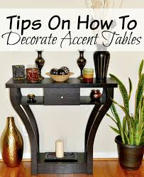 how to decorate an accent table tips on how to decorate accent tables miss frugal mommy