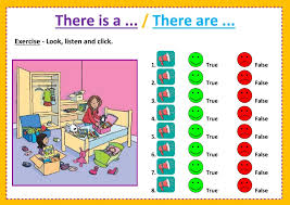 there is a there are listening interactive worksheet
