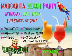 margarita beach party at tii trappers ii pizza pub