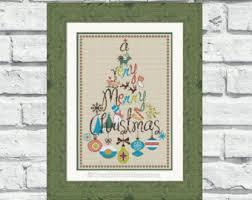 buy 2 1 free merry christmas cross stitch pattern