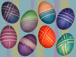 Decorating Easter Eggs With Cool Whip by Easter Egg Dye Dyeing Decorating With Rubber Bands Rainbow Loom
