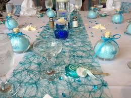 blue wedding reception table decorations cottage home office
