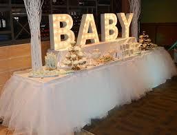 unique baby shower decorations customized tutu desk skirt sweet buffet centerpiece desk