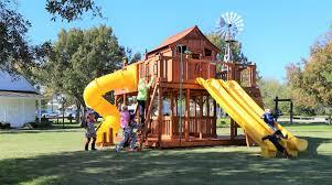 fort ticonderoga swing set backyard fun factory