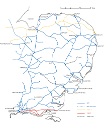 England Train Map by The Ger