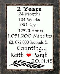 2nd wedding anniversary gifts for best 25 second anniversary gift ideas on cotton