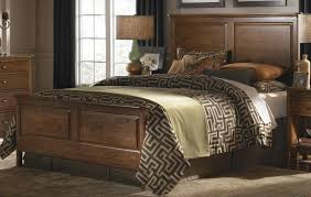 Cherry Park Solid Wood King Panel Bed P - King size bedroom set solid wood