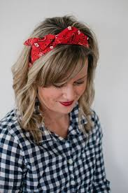 wire headband dolly bow bandana rockabilly wire headband pin
