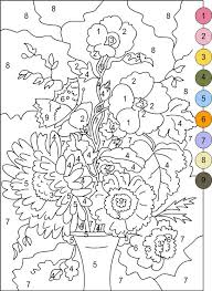 free printable number coloring pages 53 best coloriage magique images on pinterest color by numbers