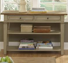 table with drawers and shelves console table console table with drawers and shelf w shelves two