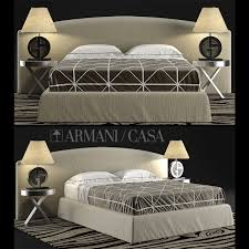 Armani Bedroom Furniture by Casa Bed 3d Max