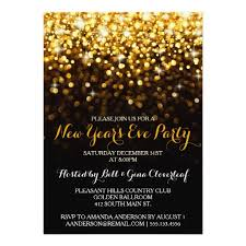 new year invitation card gold black glam new year s party card new year