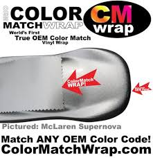 mclaren paint colors in vinyl wrap color match wrap u2013 colorx labs
