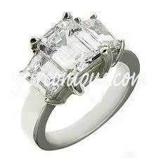 zirconia stone rings images 1 50 ctw cubic zirconia 3 stone emerald ring cz 3 stone emerald jpg