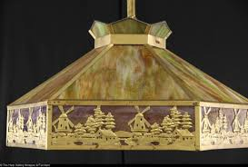 Antique Ceiling Light Fixtures Stained Glass 1915 Antique Ceiling Light Fixture Windmill Design