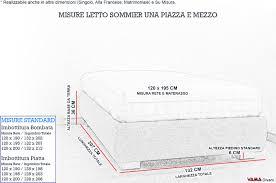 materasso standard quanto misura un letto a una piazza e mezza